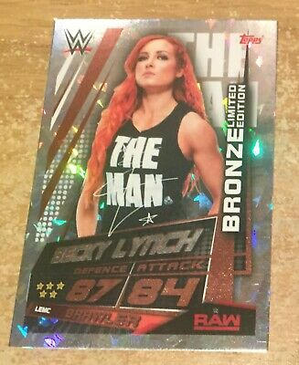 Topps Slam Attax Universe 2019 Becky Lynch Bronze Limited Edition
