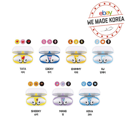 BT21 Character Airpod Dust Guard Sticker 7types Official K-POP Authentic Goods
