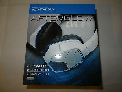 PDP Afterglow LVL 5 Plus Stereo Headset PS4 Wired Gaming Headset