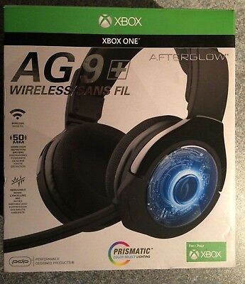PDP Afterglow AG9 Plus Wireless Gaming Headset for Xbox One (NO MICROPHONE)