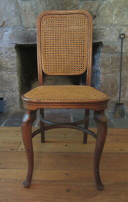 Early Vintage THONET AUSTRIA Bentwood Oak & Cane Side Chair