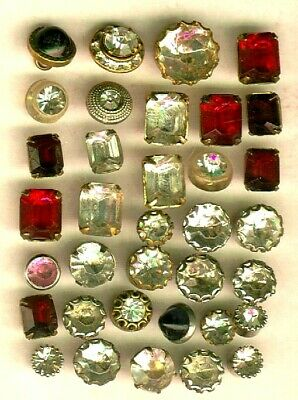Lot of 35 Jeweled Buttons