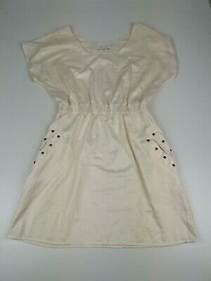 Mink Pink Womens Dress Size 12 cream Vintage Look 70/80s