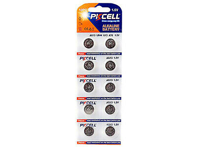 10 x PKCell A76 AG13 G13A LR44 1.5V Pila Batteria Battery Blister Button Cell