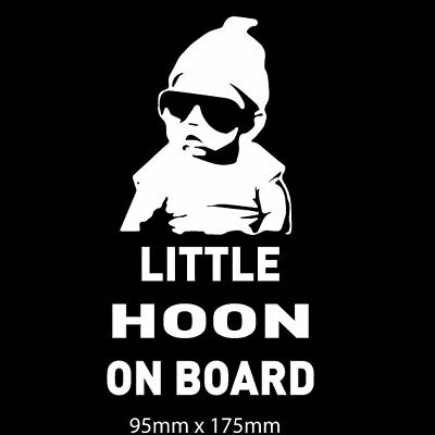 Little Hoon on Board funny baby on board sticker hangover baby car decal