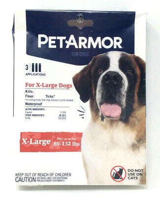 PetArmor Flea and Tick Prevention XL Extra Large Dogs 89-132Lbs 3 Month Supply