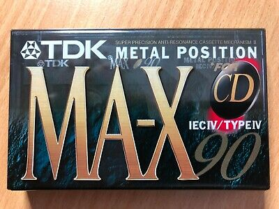 Tdk Ma-X 90 Ultimate Metal Position Type Iv Blank Audio Cassette - 1996-1998