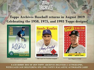 2019 Topps Archives Baseball - Pick / Choose Your Card (1-200) - BEST PRICE!!
