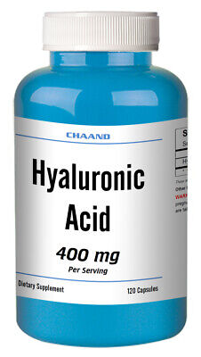 Hyaluronic Acid High Potency 400mg Serving 120 Capsules FREE USA SHIPPING CH