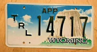 """Wyoming Apportioned Trailer License Plate """" 14717 """" Wy Semi Irp Pro-Rate"""