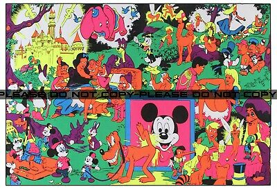 Vintage Disney Pin-up Wally Wood Orgy Sex Drugs Psychedelic Reproduction 12x18