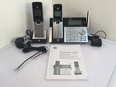 AT&T Cordless Phone with Bluetooth Connect, Answering System, 2-Handsets TL96273