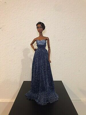 """Fashion Royalty Barbie 12"""" doll Outfit Only Blue Dress"""