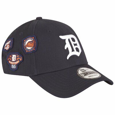 NEW Era Cooperstown Patched 9 forty adjustable Cap Detroit Tigers Blu Scuro