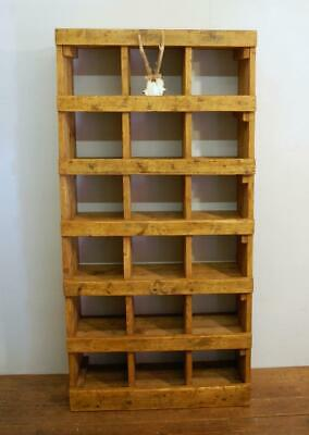 Antique Pine Victorian Pigeon Hole Shelf 1880  Cubby Hole Unit Mill Heritage