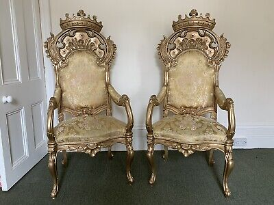 A Pair Of Vintage Gold Thrones - Ideal For Weddings!