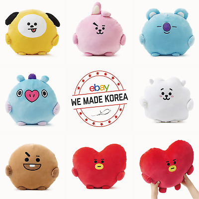 BT21 Character PongPong Plush Cushion Pillow 7 types Official K-Pop Authentic MD