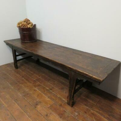 Antique Chinese Pine Opium Bed / Low Chinese Day Bed Ideal Coffee Or Sofa  Table