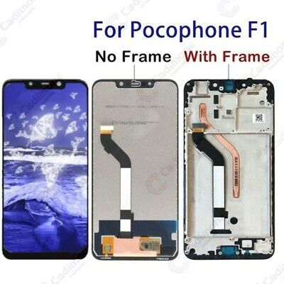 Écran complet LCD+tactile Pour Xiaomi Pocophone F1 Display Touch Screen Frame H2