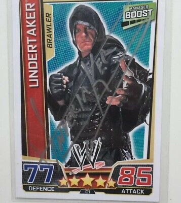 The Undertaker Topps WWE Relic Auto, Signed Card. Autograph. 1/1. Slam Attax Lot