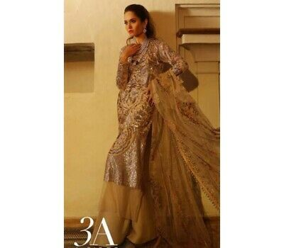 Sana Safinaz 2 Piece Luxury Eid Collection 18-03A Stitched Kameez Dupatta Cream