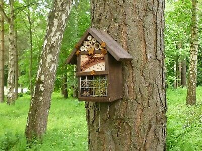 Wooden  Insect/ Bee/Bug Hotel, Handmade by Homes  for woodland folk