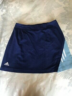 Adidas Girl's Tennis Skirt Blue Age 10-12 Size 152 Vintage  3 Stripe Netball Gym