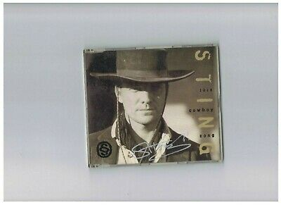 Sting This Cowboy Song CD single signed Music Autograph