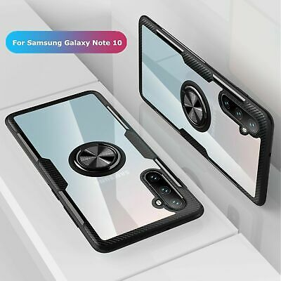 For Samsung Galaxy Note 10 10 Plus Hybrid Magnetic Stand Ring Holder Case Cover