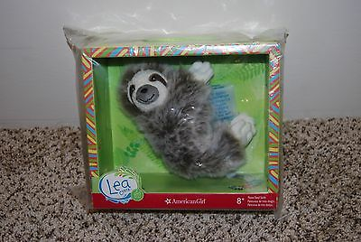 American Girl Doll Lea Clark's Three toed sloth plush pet animal NEW