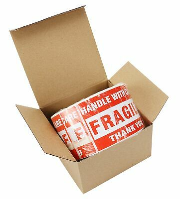 1 Roll 3x5 Fragile Stickers Handle With Care Thank You Shipping Labels 500/Roll
