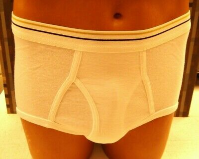 Stafford Essentials Mens Full Cut White Cotton Brief Size 34 new never laundered