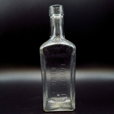 """Dr. Kennedys Favorite Remedy Kingston NY Antique Clear Glass Bottle 2.75"""" x 8.5"""""""