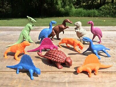 Vintage Marx 1950's 1960's Prehistoric Times Playset Dinosaur Lot Collection