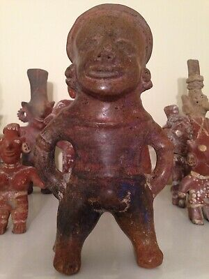 "Pre-Columbian ""Peeing"" Male Pihuamo Handmade Pottery Figure/ C.o.a/2000 Yrs. Old"