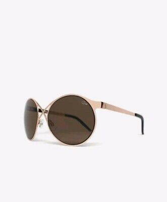 BNWT Quay Australia Womens Gold'Sorry not Sorry7.6' Oversized Cat Eye Sunglasses