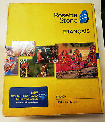 Rosetta Stone French Level 1 version 4 for PC, Mac NEW!  FREE SHIPPING!!