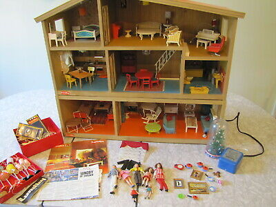 Lundby of Sweden Dollhouse - 2+ Story House w/ Lots of Furniture, Dolls, & More