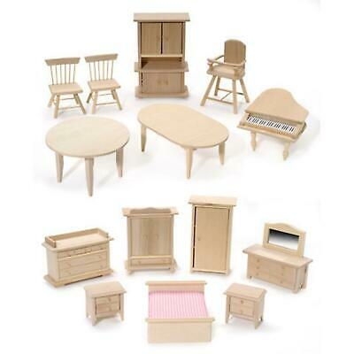 Pine Wood Mini Furniture - you will get the 2 chairs - for your dollhouse!