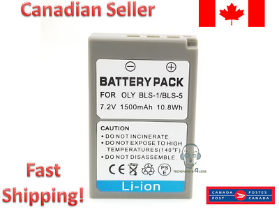 Replacement Battery for Olympus for BLS-1 BLS-5 E-PL5 E-PM2 E-PL2 BLS5