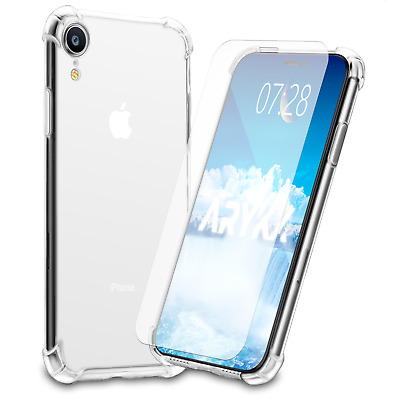 1PK Screen Protector and Case for iPhone XR X Xs Max 6 6S 7 8 Plus Cover Clear