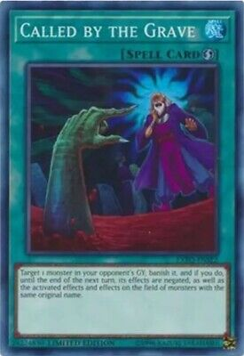 Yugioh Called By The Grave Super Rare Limited Edition Exfo-Ense2
