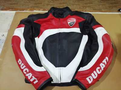 Ducati Corse Jacket Motorcycle Leather Jackets Motorbike Racing CE Armoured Ride
