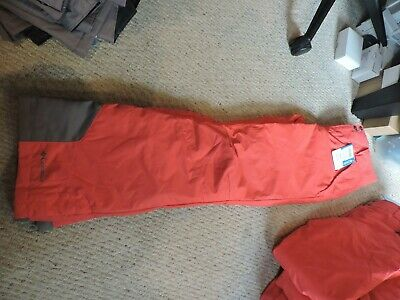 Womens Columbia Arctic Trip OH Insulated Waterproof Ski Snow Winter Pants RED XS