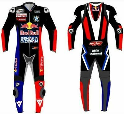 Motorbike Leather Racing Suit Motorcycle Sports Riding CE Protection Cowhide