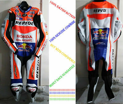 Motorbike Leather Racing Suit Motorcycle Sports Riding CE Armoured Protection