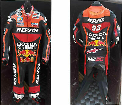 Motorbike Leather Suit Motorcycle Sports Racing Riding CE Armoured Protection