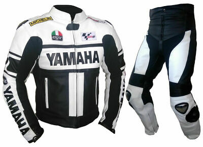 Motorbike Leather Suit Motorcycle Sports Racing Yamaha CE Armoured Protection