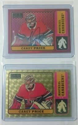 2018-19 OPC Platinum Retro GOLDEN TREASURES 1/1 + Auto *SUPER RARE* Carey Price