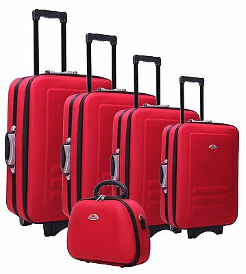 BRAND NEW 5pc Suitcase Trolley Travel Bag Luggage Set RED